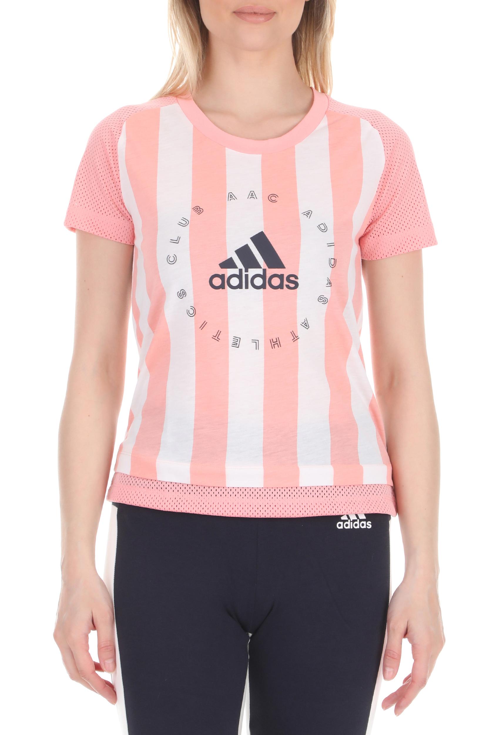 adidas Performance - Γυναικεία μπλούζα adidas Performance W AAC Tee ροζ λευκή