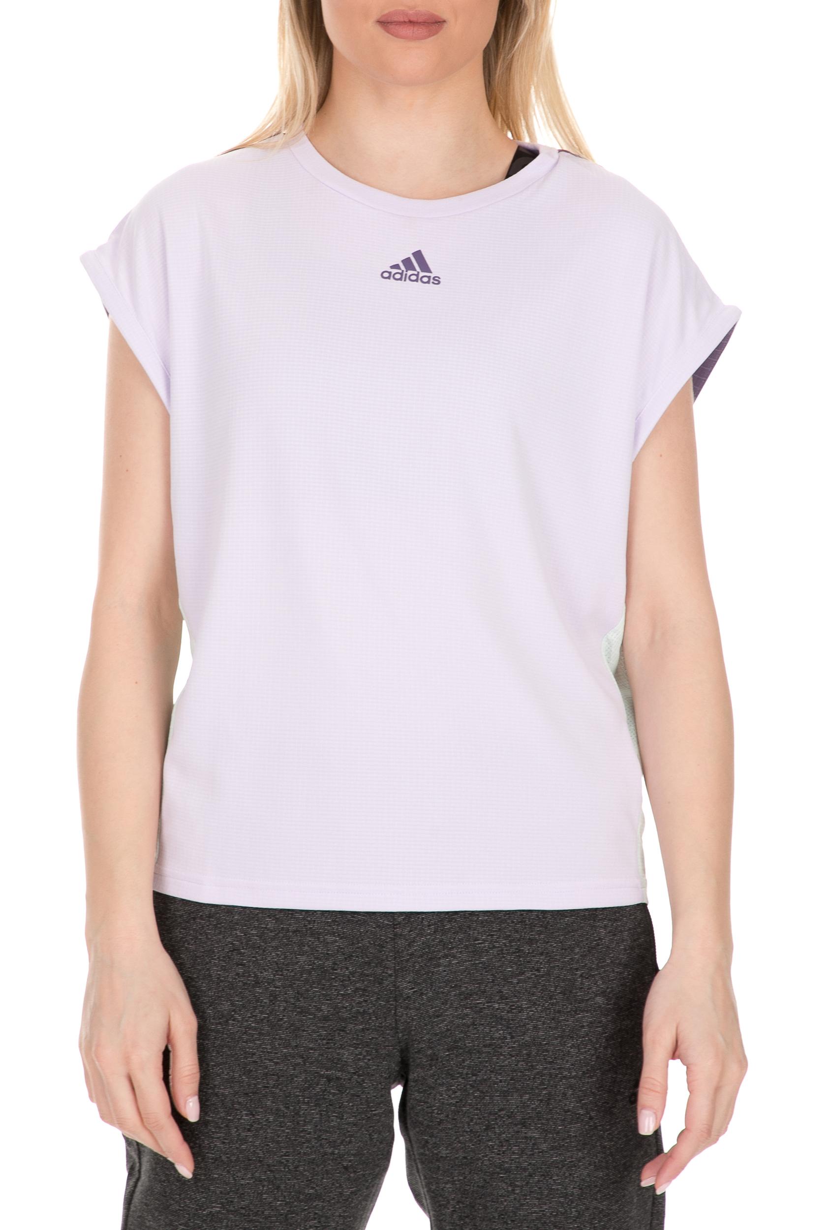 adidas Performance - Γυναικεία τένις μπλούζα adidas HEAT.RDY μοβ