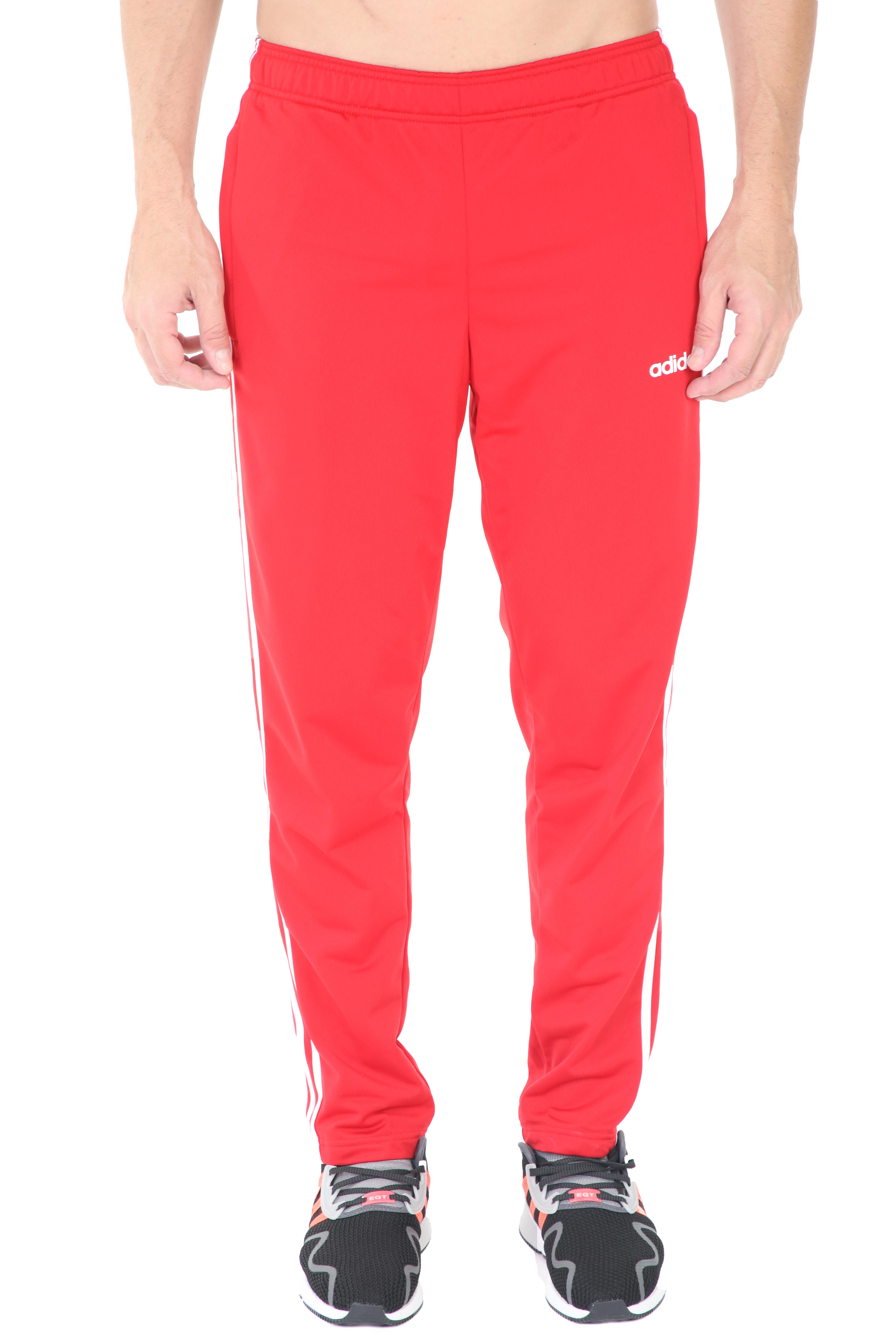 ADIDAS - Ανδρικό αθλητικό παντελόνι φόρμας adidas 3S T TRIC κόκκινο