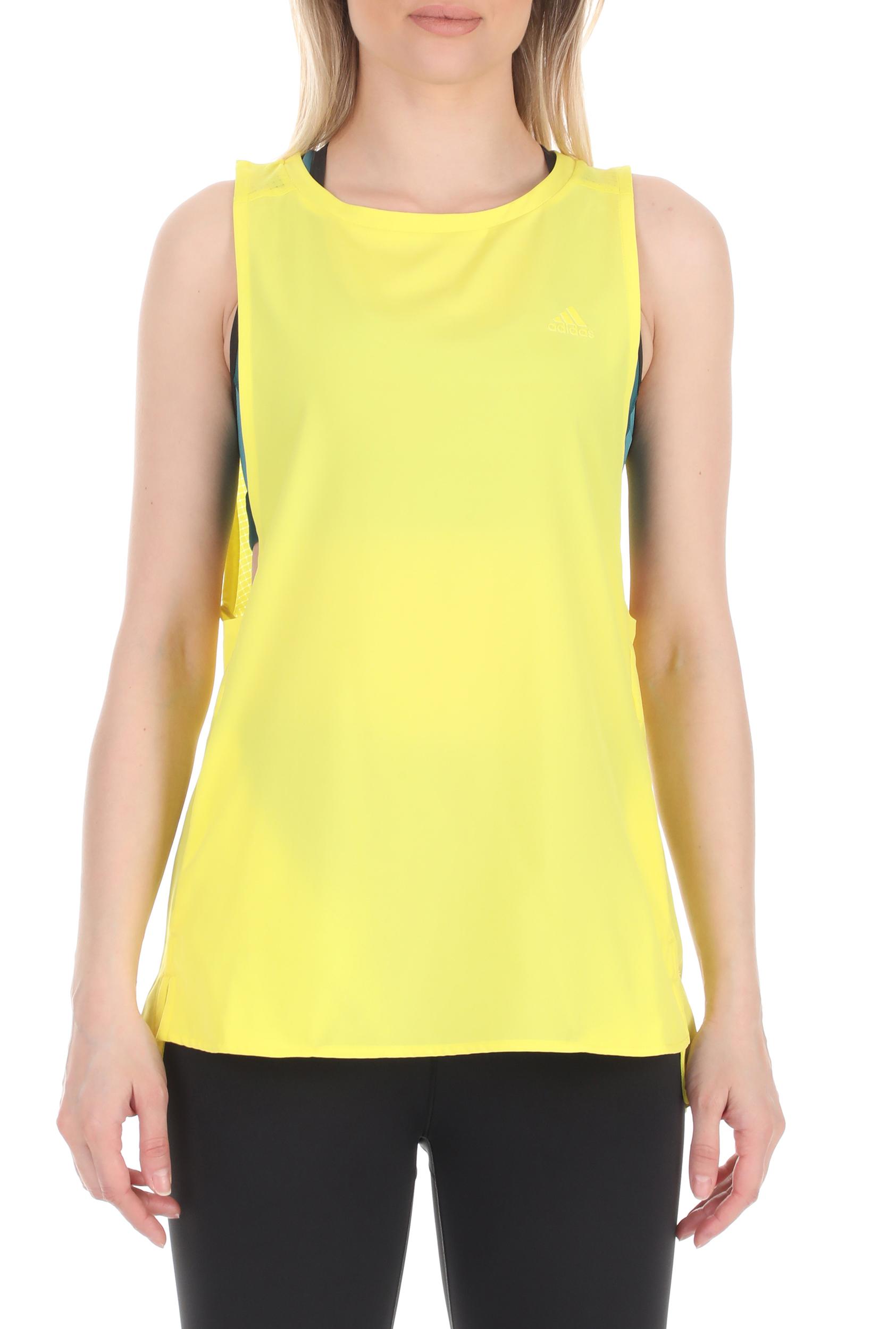 adidas Performance - Γυναικεία αθλητική μπλούζα adidas Performance κίτρινη