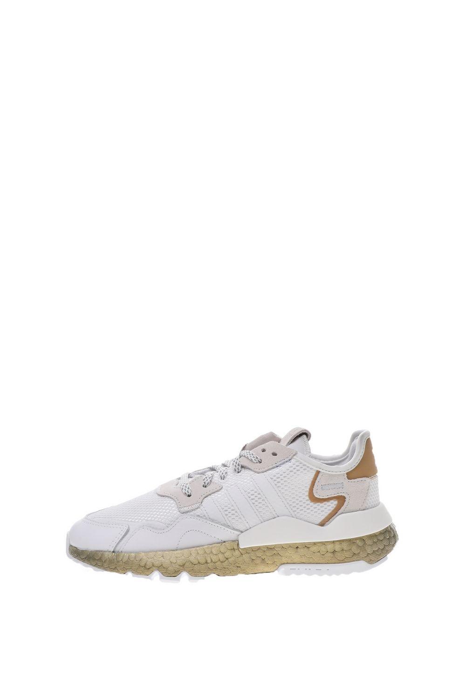 adidas Originals - Γυναικεία παπούτσια running adidas Originals NITE JOGGER λευκά χρυσά