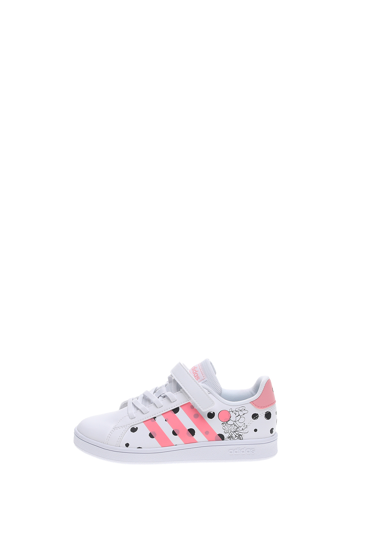 adidas Originals – Παιδικά sneakers adidas Originals GRAND COURT C λευκά ροζ