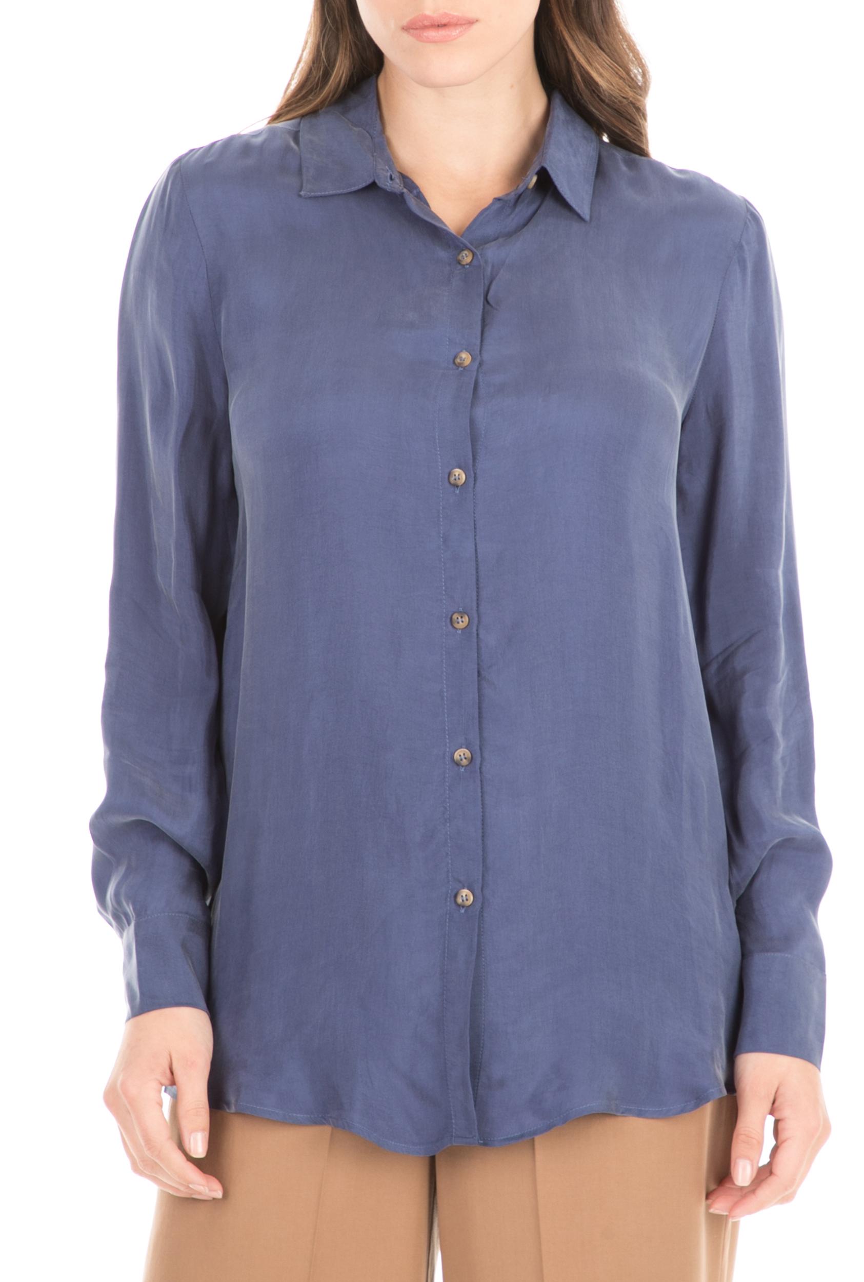 AMERICAN VINTAGE - Γυναικείο πουκάμισο AMERICAN VINTAGE μπλε γυναικεία ρούχα πουκάμισα μακρυμάνικα