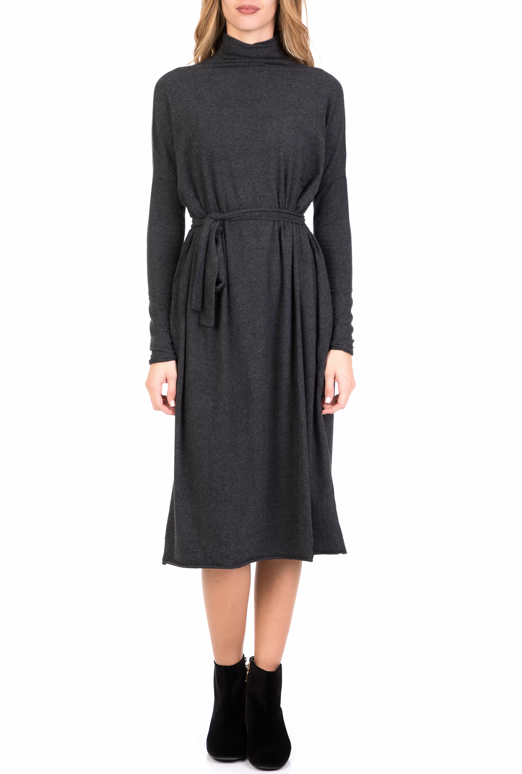 AMERICAN VINTAGE - Γυναικείο midi φόρεμα AMERICAN VINTAGE γκρι