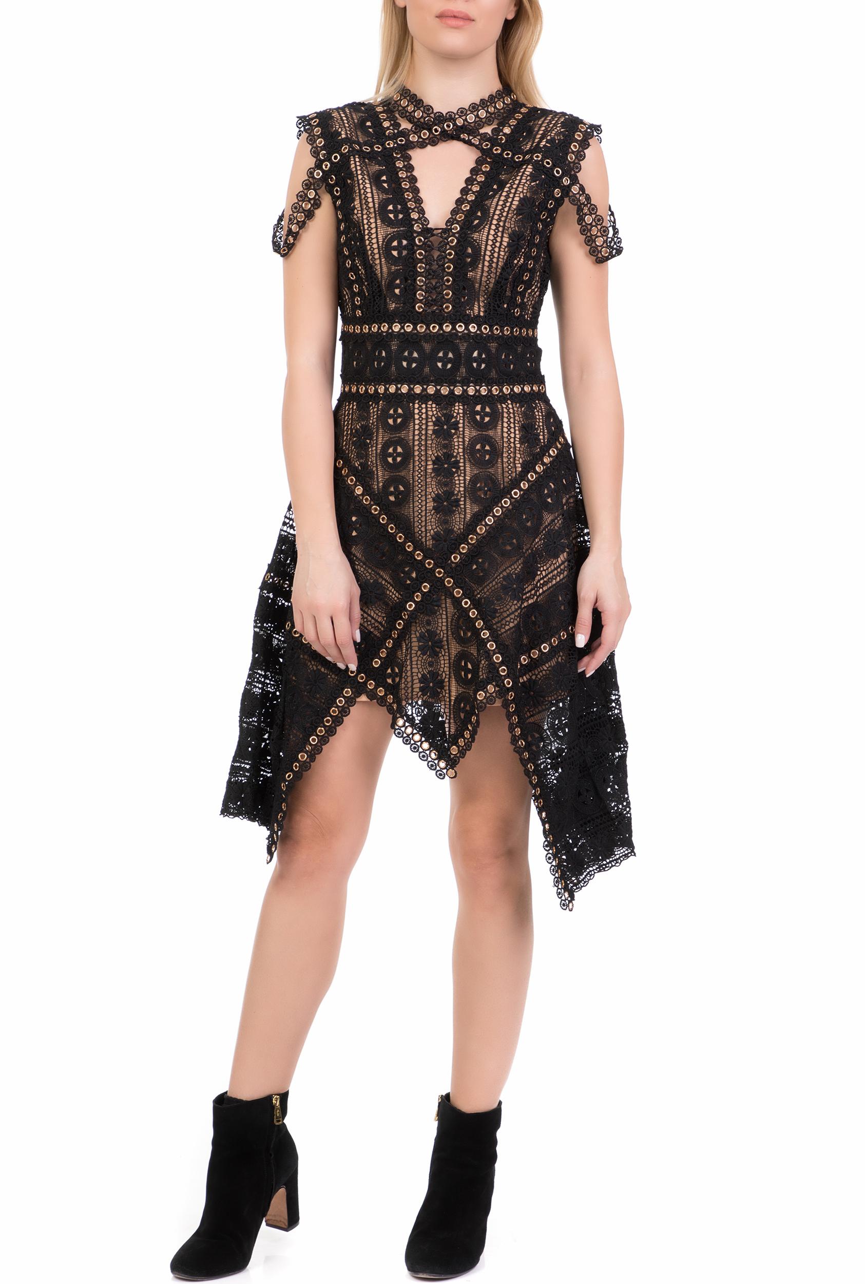 AMUSE - Γυναικείο μίνι φόρεμα AMUSE μαύρο γυναικεία ρούχα φόρεματα μίνι