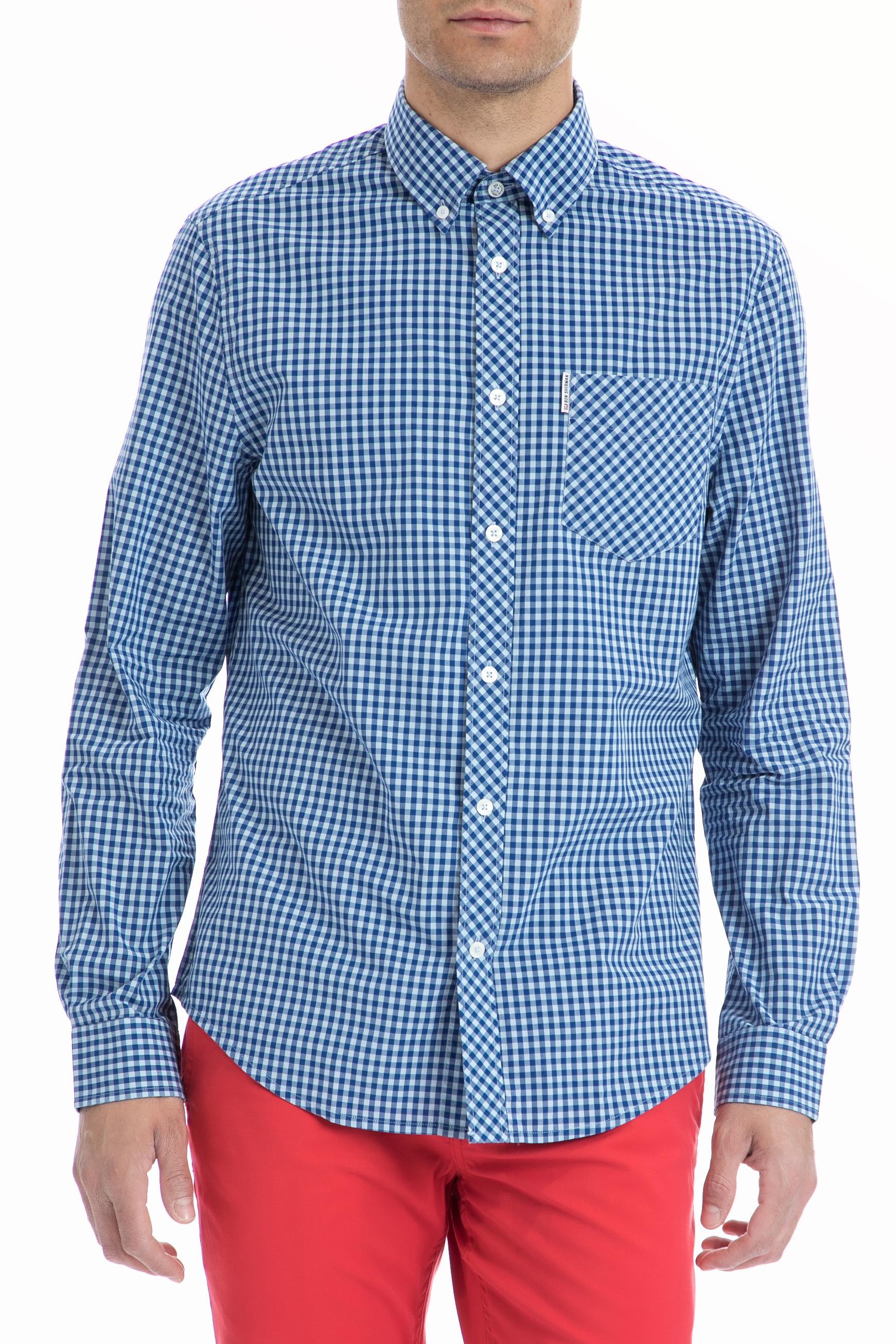 f785fea8f4ee Factoryoutlet BEN SHERMAN - Ανδρικό πουκάμισο Ben Sherman μπλε-λευκό