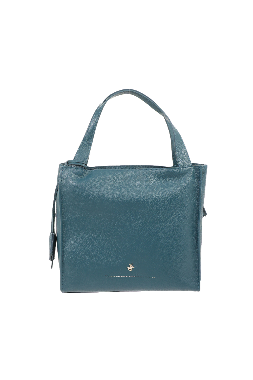 BEVERLY HILLS POLO CLUB - Γυναικεία τσάντα χειρός BEVERLY HILLS POLO CLUB VELE BORSA πράσινο πετρόλ