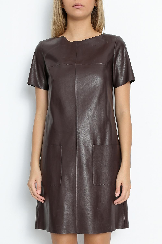 BOSS - Γυναικείο φόρεμα BOSS Apelilly καφέ γυναικεία ρούχα φόρεματα μίνι