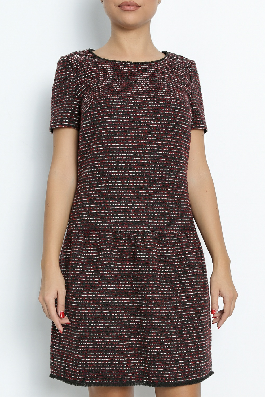 BOSS - Γυναικείο φόρεμα BOSS Akarli μαύρο-κόκκινο γυναικεία ρούχα φόρεματα μίνι