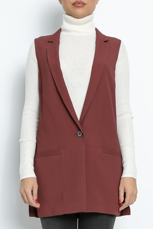 BOSS - Γυναικείο γιλέκο BOSS Ocupri κόκκινο γυναικεία ρούχα πανωφόρια σακάκια