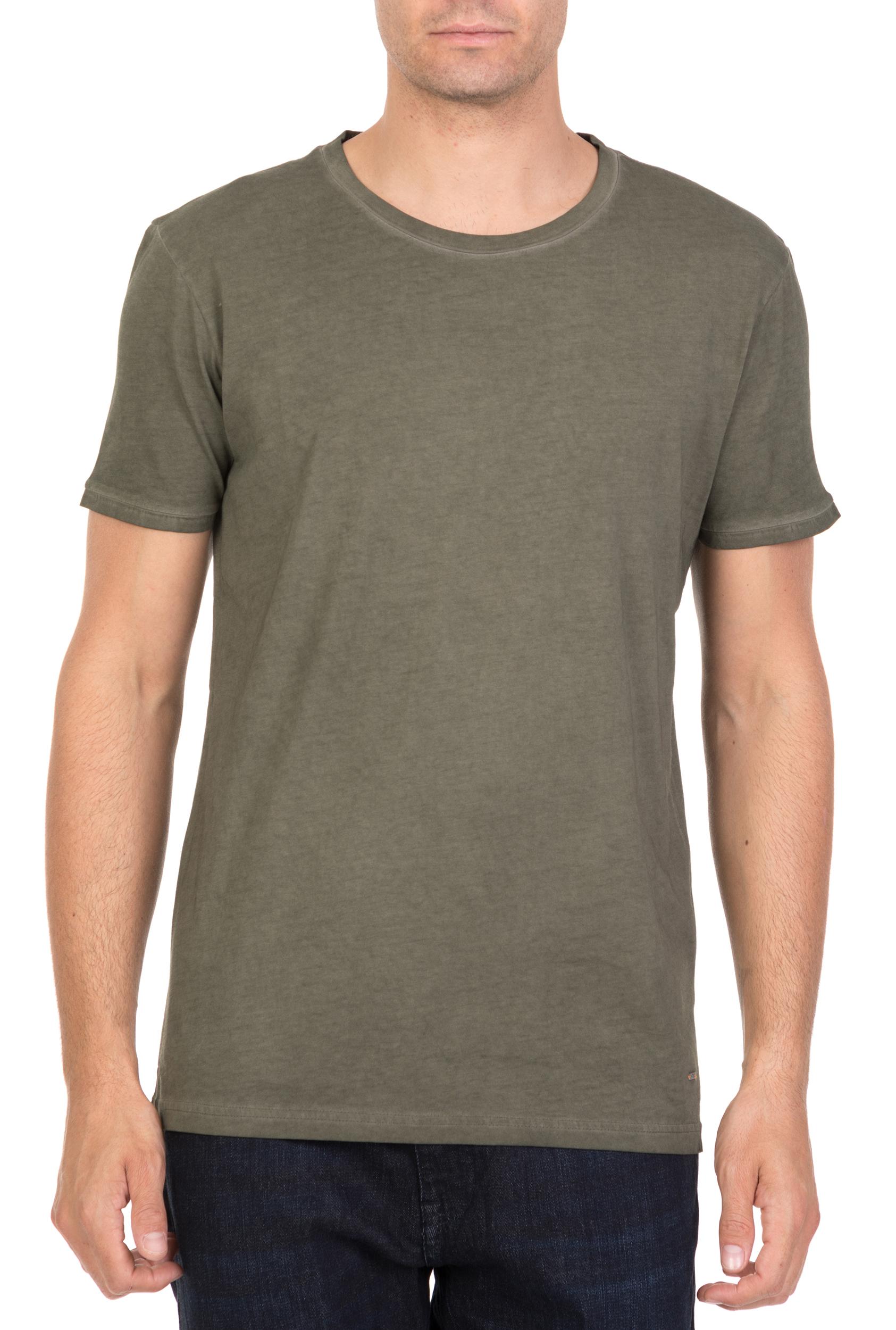 742b9235c331 CollectiveOnline BOSS - Ανδρική κοντομάνικη μπλούζα BOSS JERSEY Troy λαδί