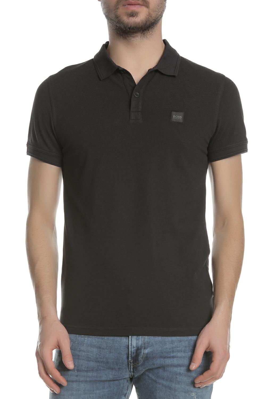 f27216a936b7 BOSS ORANGE - Ανδρική πόλο μπλούζα BOSS ORANGE μαύρη