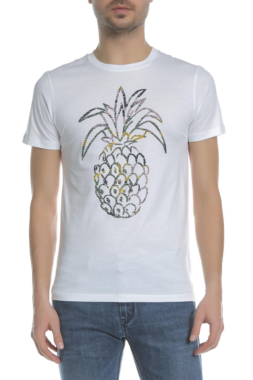 7d3910d00df0 BOSS - Ανδρική κοντομάνικη μπλούζα BOSS Jersey Tauno λευκή