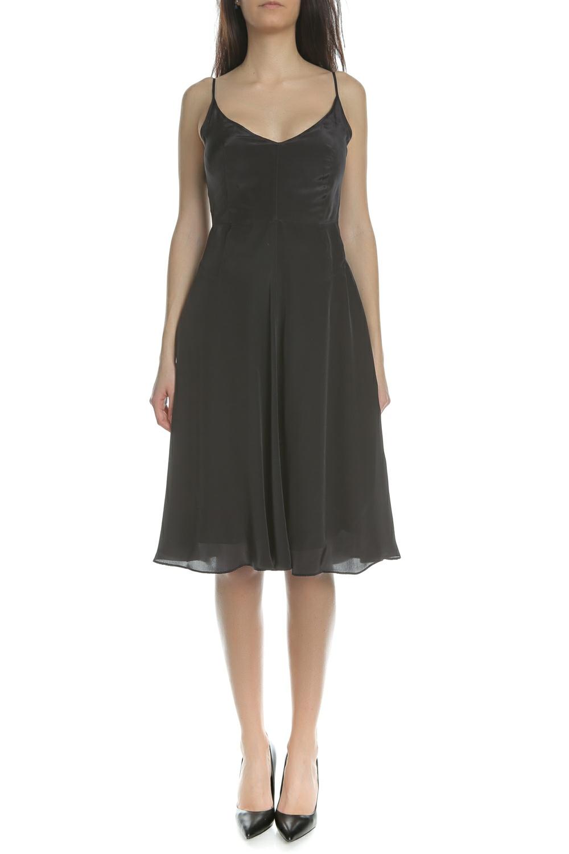 CALVIN KLEIN JEANS - Γυναικείο midi φόρεμα CALVIN KLEIN JEANS μαύρο