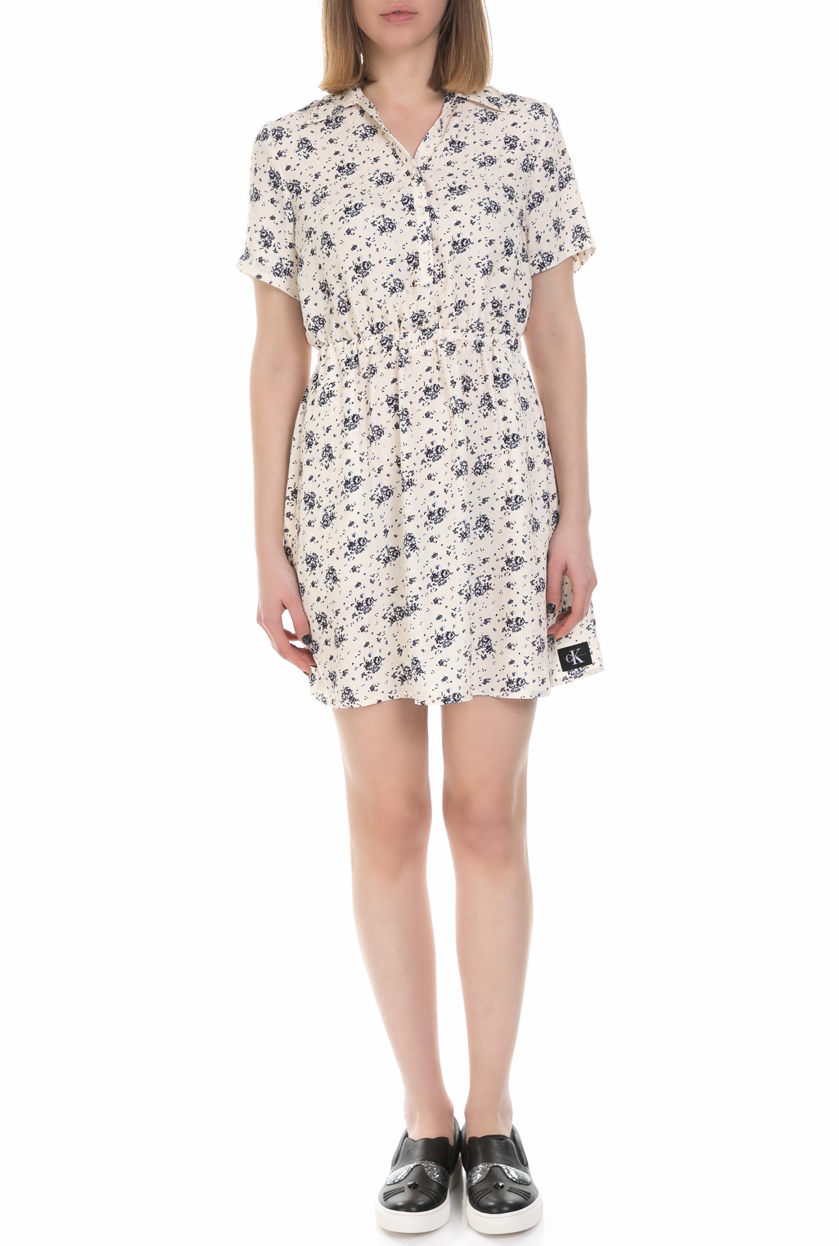 CALVIN KLEIN JEANS - Γυναικείο mini φόρεμα Calvin Klein Jeans ροζ