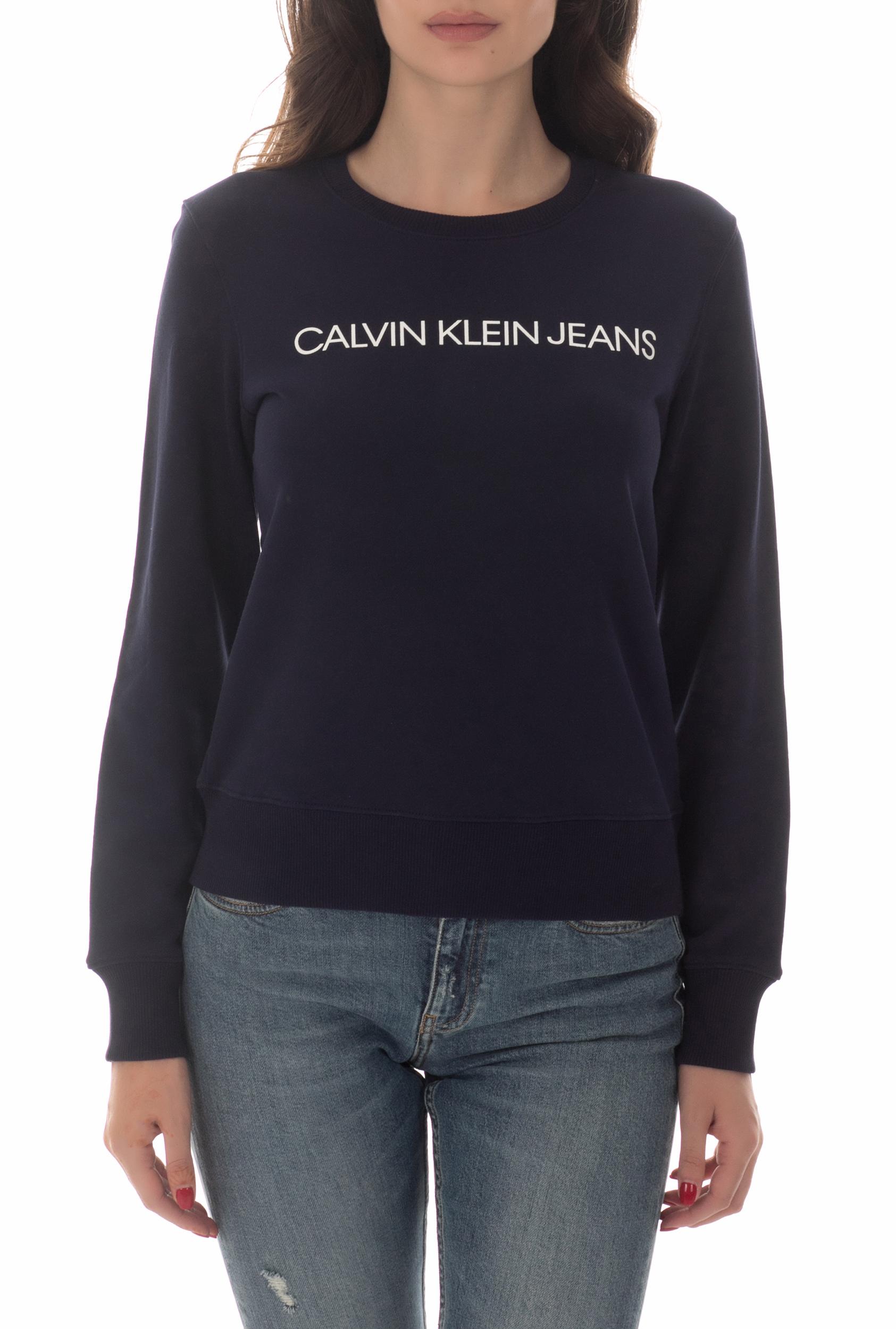 CALVIN KLEIN JEANS - Γυναικείο φούτερ CALVIN KLEIN JEANS ναυτικό μπλε