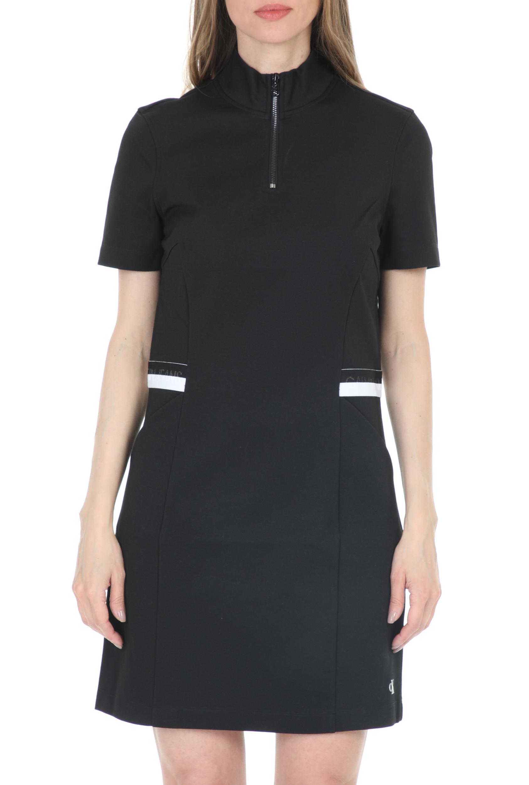 CALVIN KLEIN JEANS - Γυναικείο mini φόρεμα CALVIN KLEIN JEANS MILANO μαύρο