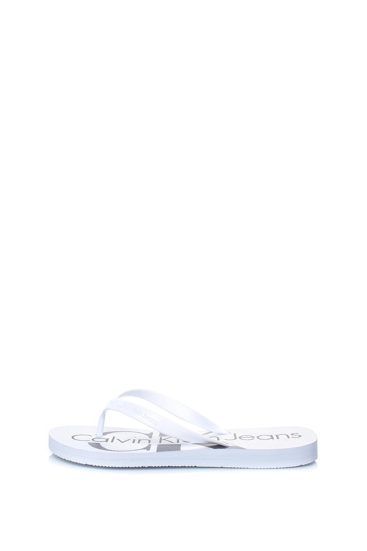 CALVIN KLEIN JEANS – Ανδρικές σαγιονάρες DASH CALVIN KLEIN JEANS λευκές
