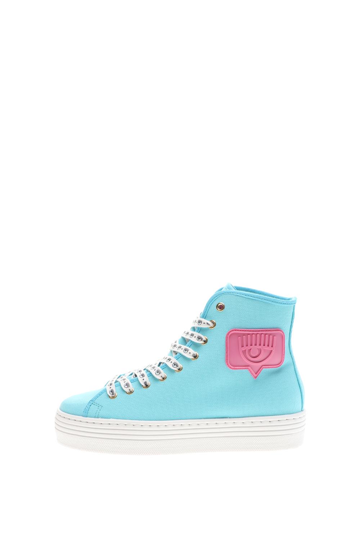 CHIARRA FERRAGNI – Γυναικεία ψηλά sneakers CHIARRA FERRAGNI SHOES HIGH EYE μπλε ροζ