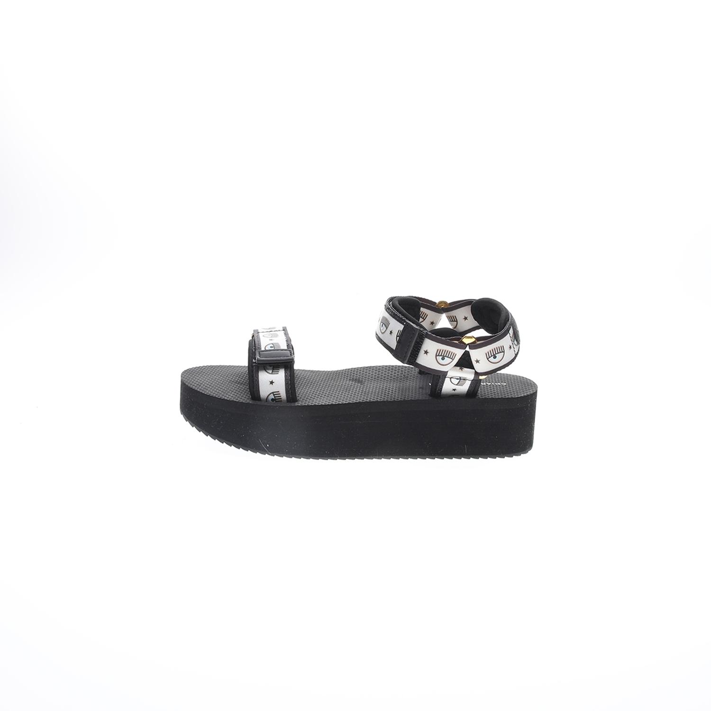 CHIARRA FERRAGNI – Γυναικεία σανδάλια CHIARRA FERRAGNI μαύρα λευκά