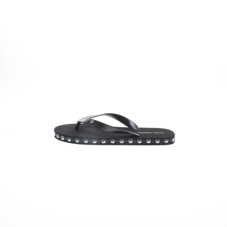 CHIARRA FERRAGNI – Γυναικείες σαγιονάρες flip flop CHIARRA FERRAGNI μαύρες
