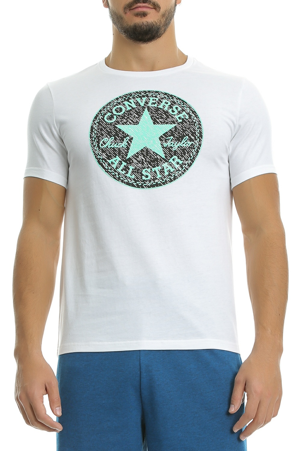 CONVERSE - Ανδρική Μπλούζα CP Knit Texture Fill Tee Λευκή