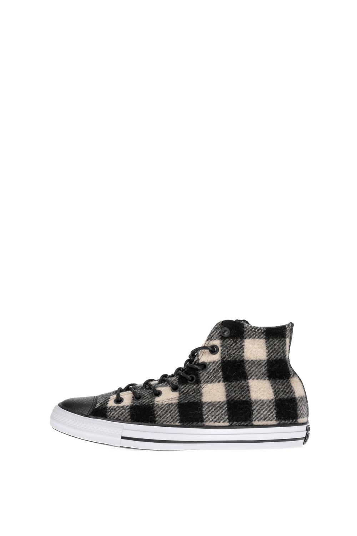 CONVERSE – Unisex ψηλά sneakers CONVERSE Chuck Taylor All Star Hi μαύρα μπεζ