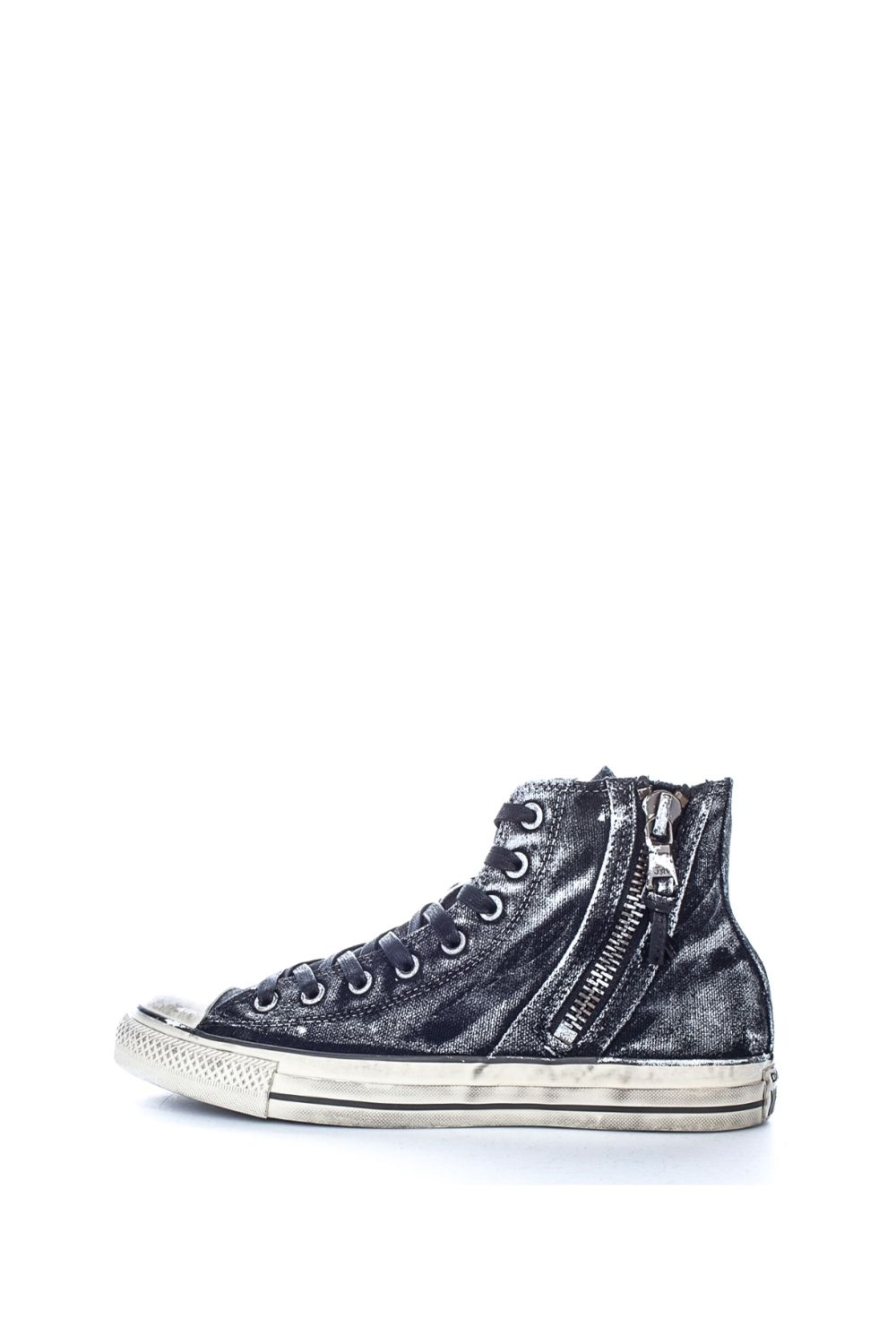 CONVERSE – Unisex ψηλά sneakers CONVERSE All Star John Varvatos X Chuck Taylor side zip μαύρα