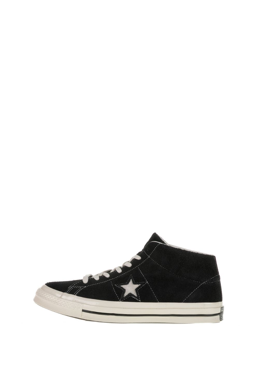 CONVERSE – Unisex ψηλά sneakers CONVERSE One Star Mid μαύρα