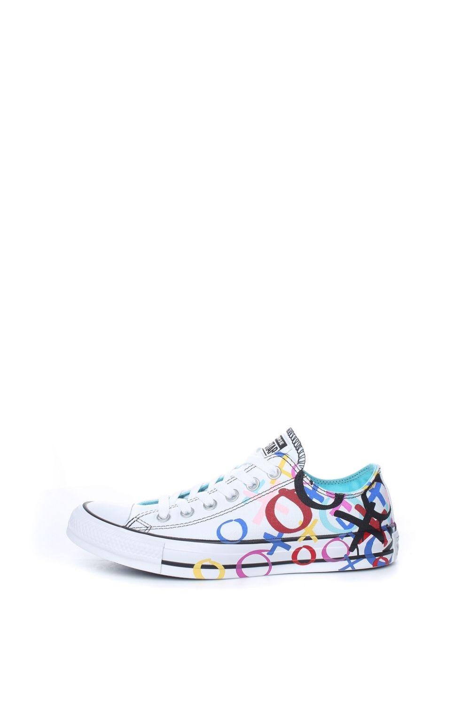 CONVERSE – Γυναικεία παπούτσια Chuck Taylor All Star Ox λευκά με print