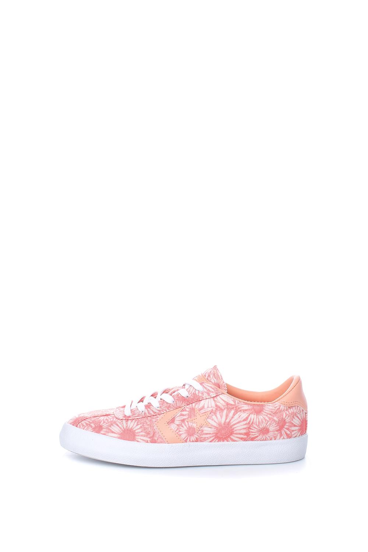 CONVERSE – Γυναικεία παπούτσια Breakpoint Ox ροζ με φλοράλ μοτίβο