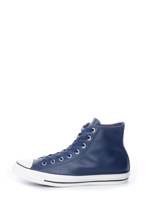 6108c3e44e4 -40% Collective Online CONVERSE – Ανδρικά δερμάτινα μποτάκια Chuck Taylor  Leather All Star Hi μπλε