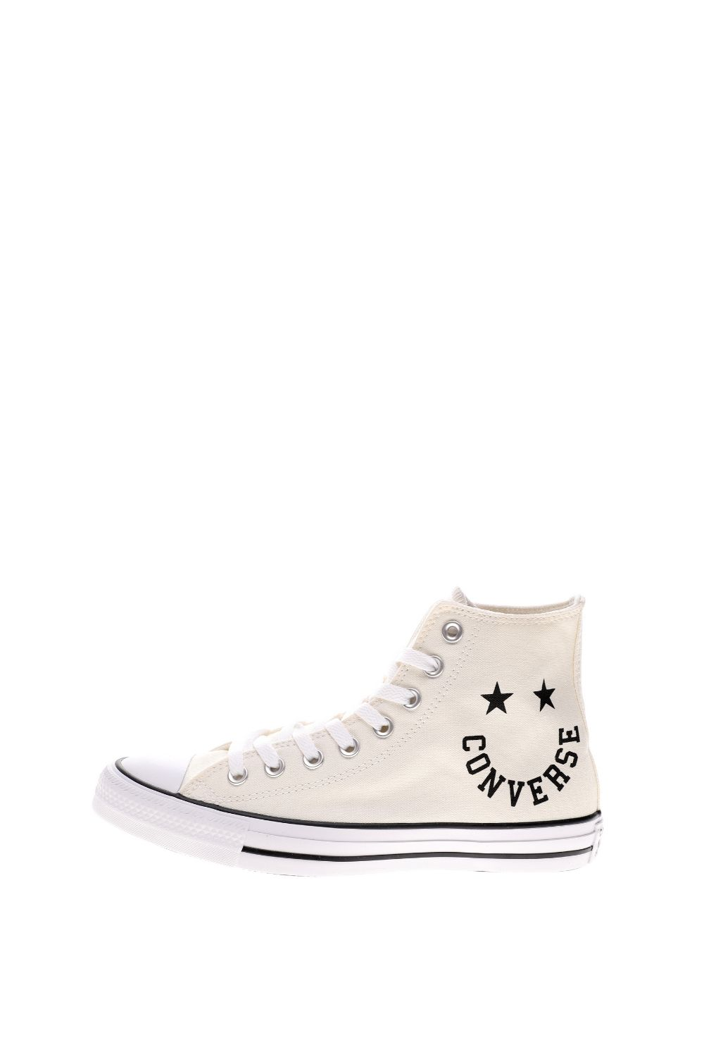 CONVERSE – Unisex ψηλά sneakers CONVERSE CHUCK TAYLOR ALL STAR SMILE λευκά μπλε