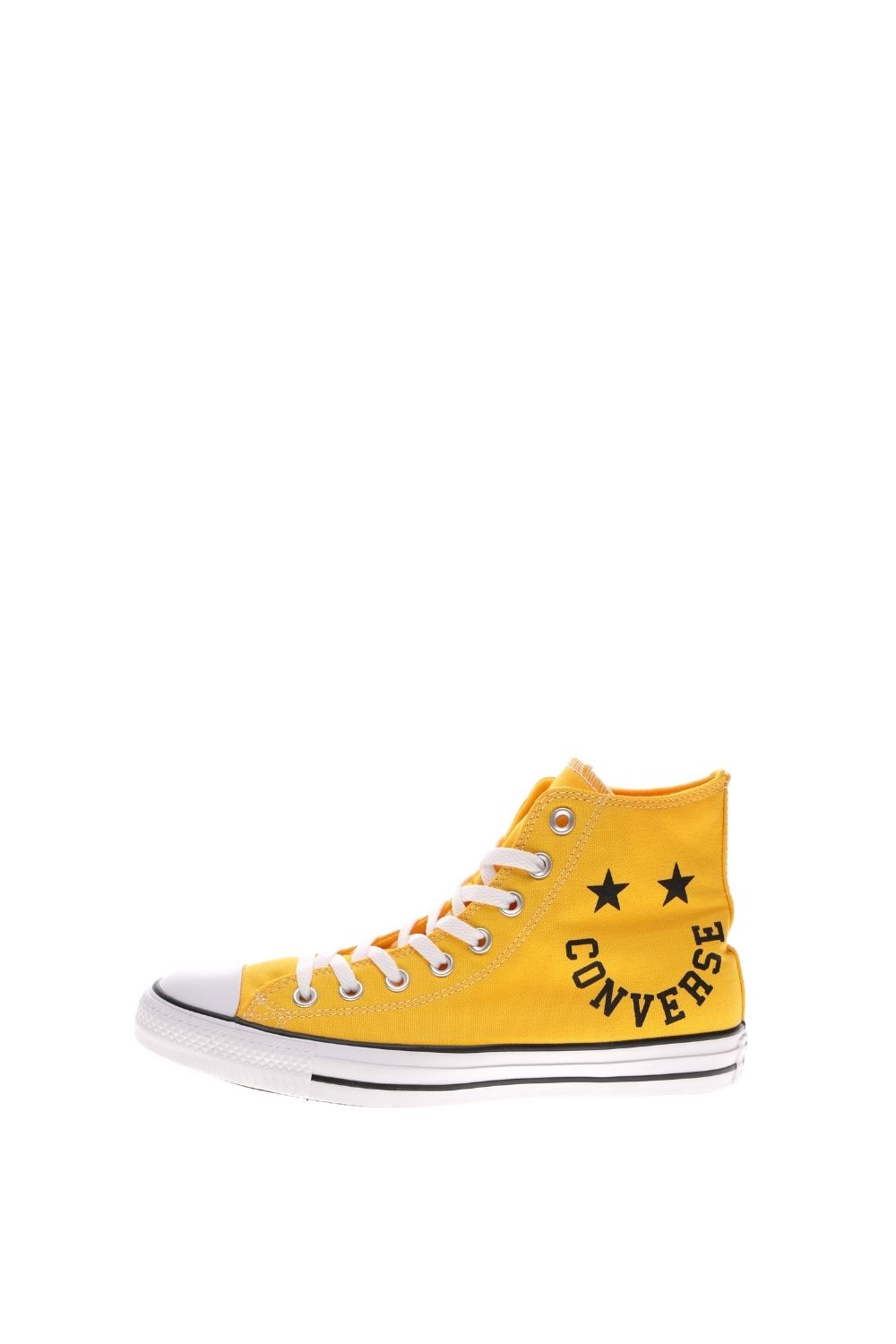 CONVERSE – Unisex ψηλά sneakers CONVERSE CHUCK TAYLOR ALL STAR SMILE κίτρινα μαύρα