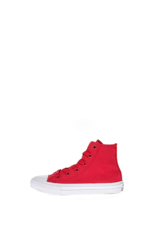 CONVERSE – Παιδικά ψηλά sneakers CONVERSE Chuck Taylor All Star II Hi κόκκινα