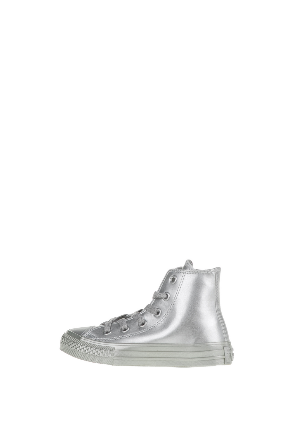 CONVERSE – Παιδικά ψηλά sneakers CONVERSE Chuck Taylor All Star Hi ασημί