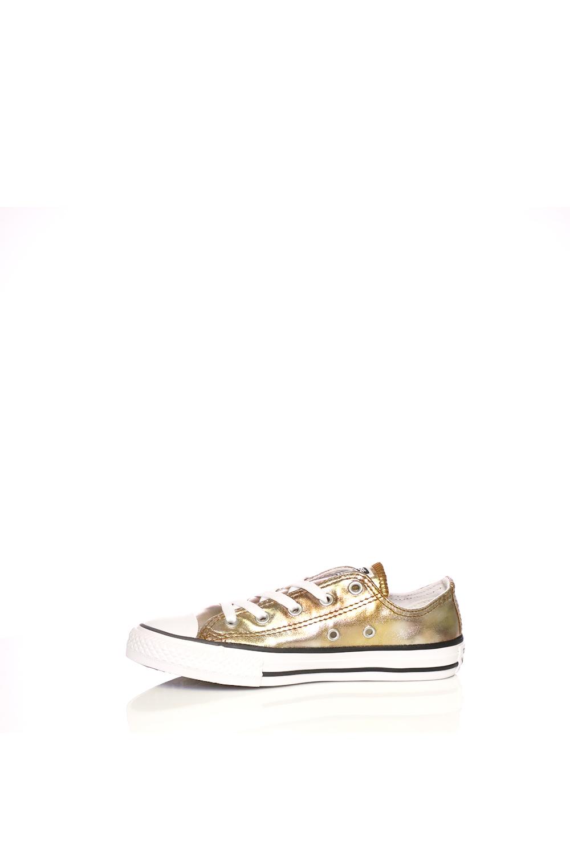 -40% CONVERSE – Παιδικά sneakers Converse Chuck Taylor All Star Ox χρυσά  μεταλλικά 821d022f116