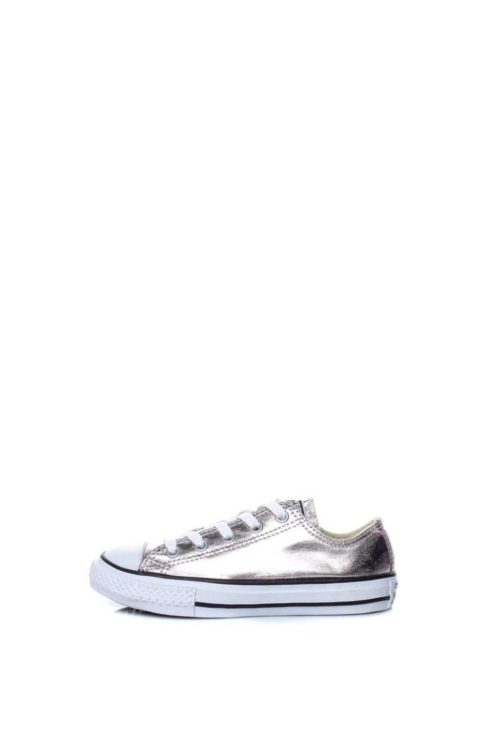 CONVERSE – Παιδικά sneakers CONVERSE Chuck Taylor All Star Ox ασημί