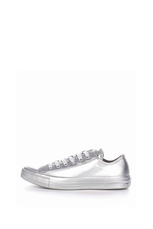 CONVERSE – Γυναικεία αδιάβροχα sneakers Chuck Taylor All Star Metallic ασημί