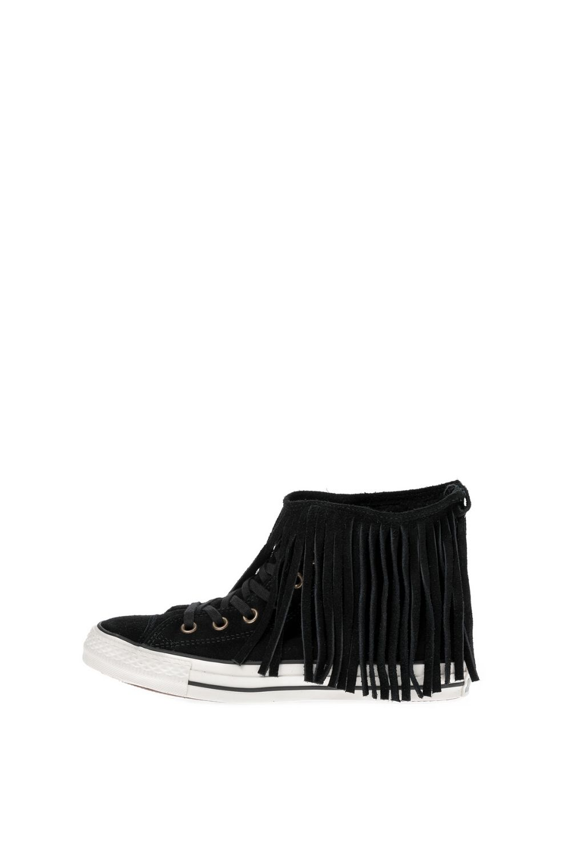 CONVERSE – Γυναικεία ψηλά sneakers CONVERSE Chuck Taylor All Star Fringe μαύρα