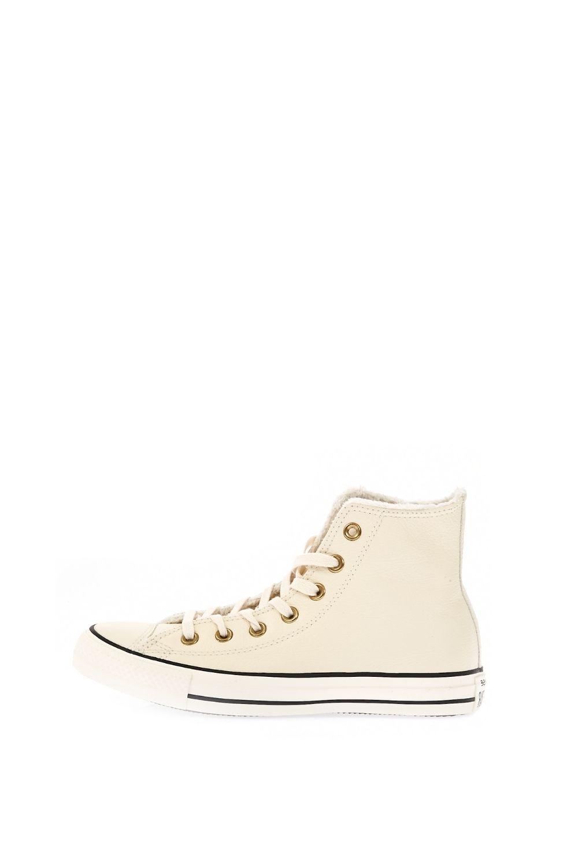 CONVERSE – Γυναικεία ψηλά sneakers CONVERSE Chuck Taylor All Star Winter K μπεζ