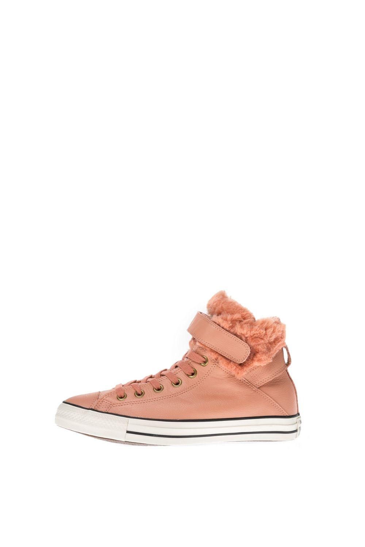 CONVERSE – Γυναικεία ψηλά sneakers CONVERSE Chuck Taylor All Star Brea Lea ροζ