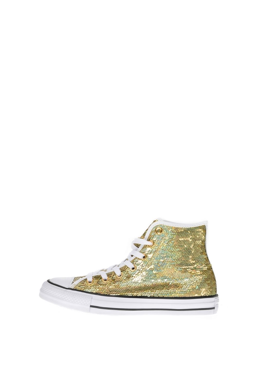 CONVERSE – Γυναικεία ψηλά sneakers CONVERSE Chuck Taylor All Star Hi χρυσά