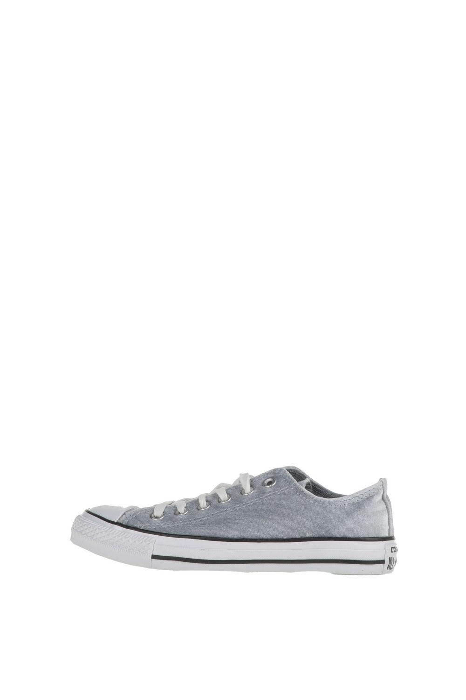 CONVERSE – Γυναικεία sneakers Chuck Taylor All Star Ox γκρι βελουτέ