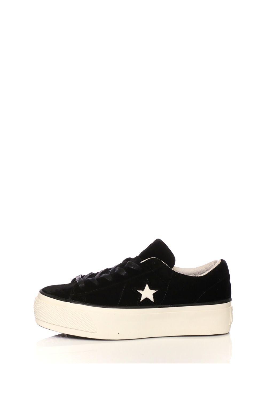 CONVERSE – Γυναικεία sneakers CONVERSE One Star Platform Ox μαύρα