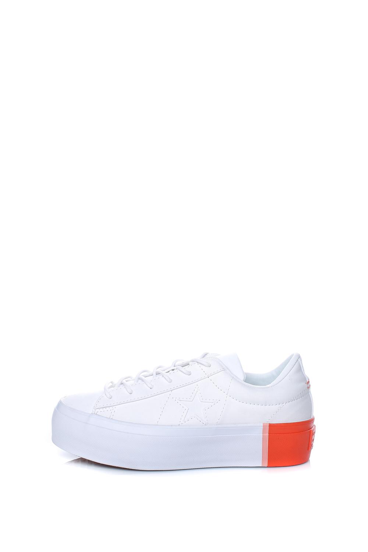 CONVERSE – Γυναικεία παπούτσια One Star Platform Ox λευκά