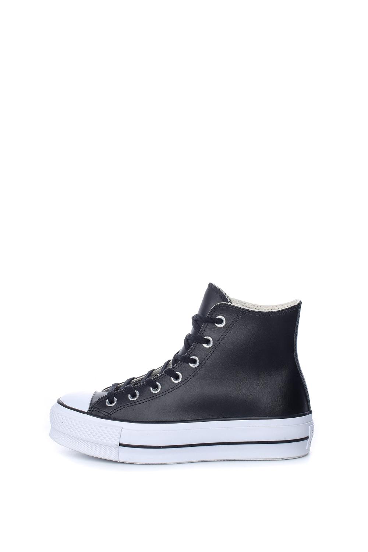 CONVERSE – 5Γυναικεία μποτάκια Chuck Taylor All Star Lift Clean Hi μαύρα