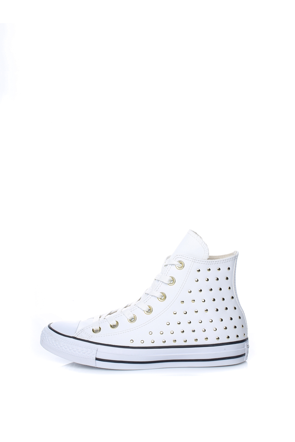 Collective Online CONVERSE – Γυναικεία ψηλά sneakers CONVERSE CHUCK TAYLOR  ALL STAR λευκά με τρουξ aa1591b8070