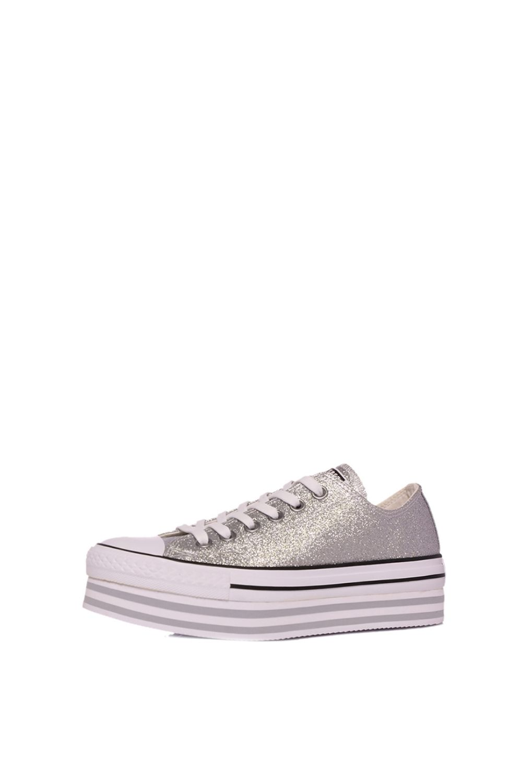 CONVERSE – Γυναικεία παπούτσια sneakers Chuck Taylor All Star Platform ασημί