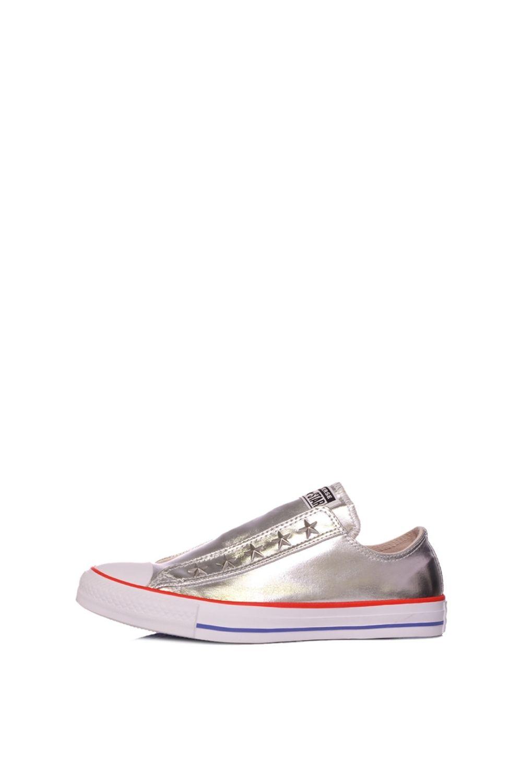 CONVERSE – Γυναικεία sneakers CONVERSE CHUCK TAYLOR ALL STAR SLIP γκρι ασημί